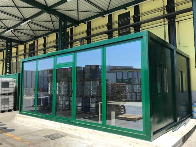 Prefabbricati uffici in vetro